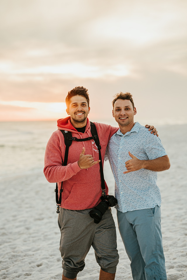 Carlos Bown Photographer And Videographer With Friend On Pensacola Beach